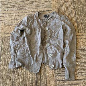 H&M SMALL GREY button cardigan soft